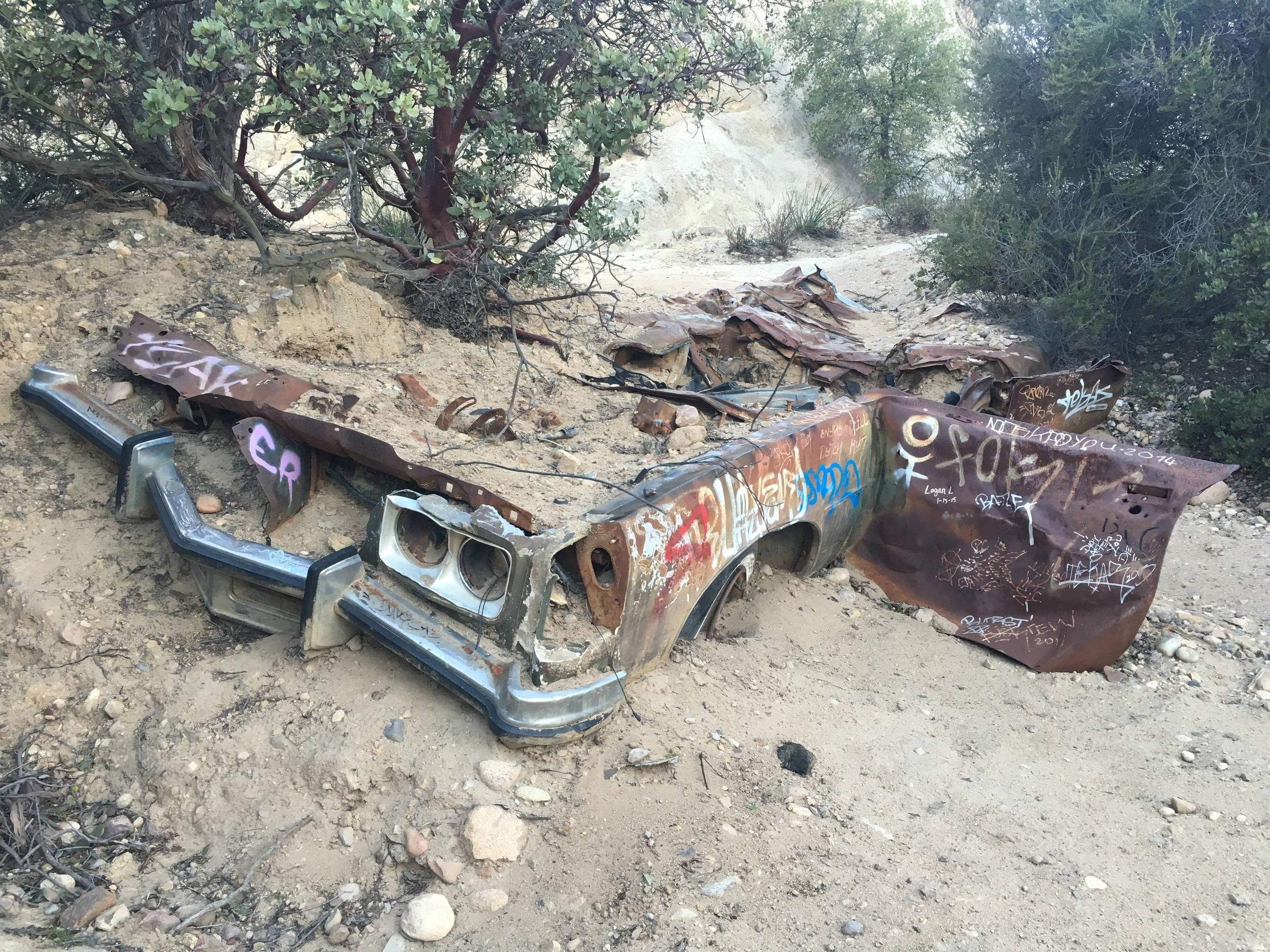 Old Car Found at the Morrison Caves  Malibu CA [4032x3024