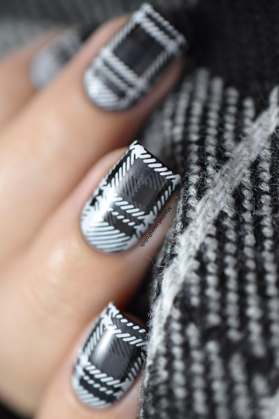 Nailstorming assortie à mon écharpe tartan nail art video