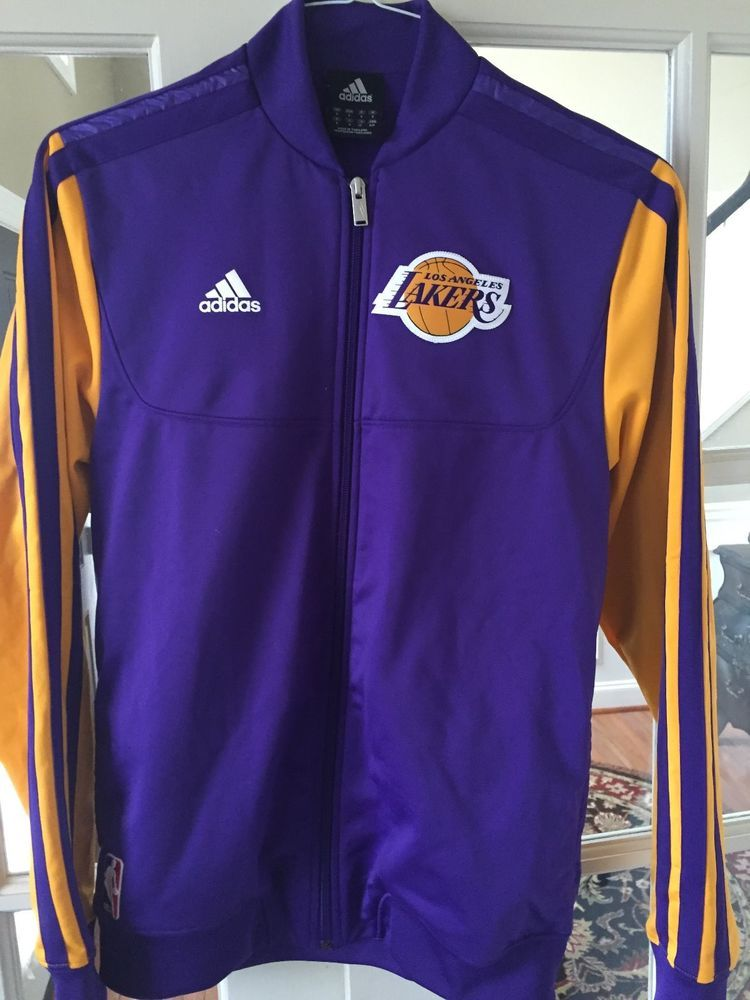 Adidas Los Angeles Lakers On Court Home Weekend Warm Up Jacket Purple Yellow Adidas Los Angeles Los Angeles Lakers Adidas