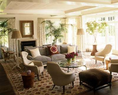 1930s/50s Mixed Eclectic Large Living Room By Fox Nahem Associates. Two  Couches Part 87