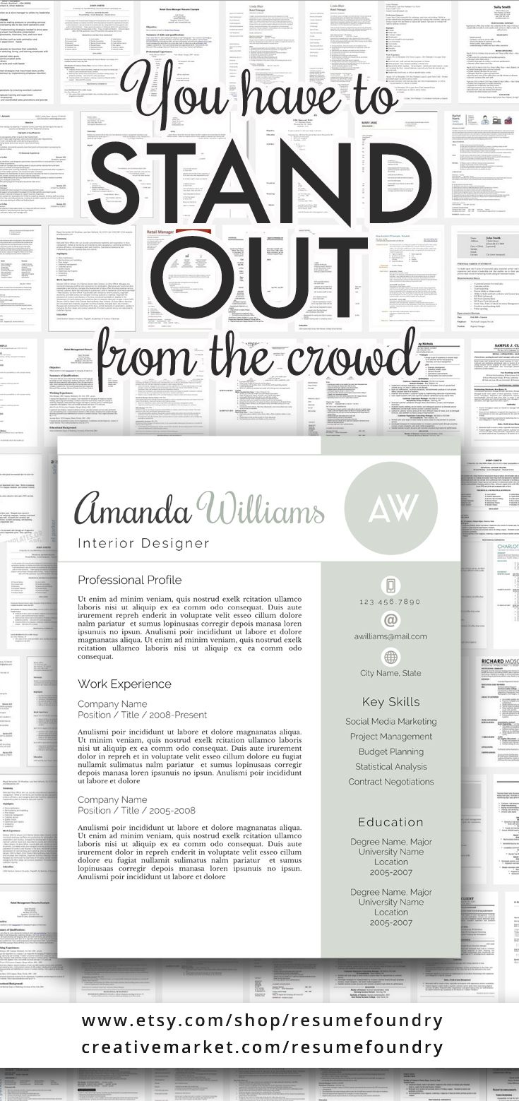 Amazing resume template. Instant download, use with Microsoft Word ...