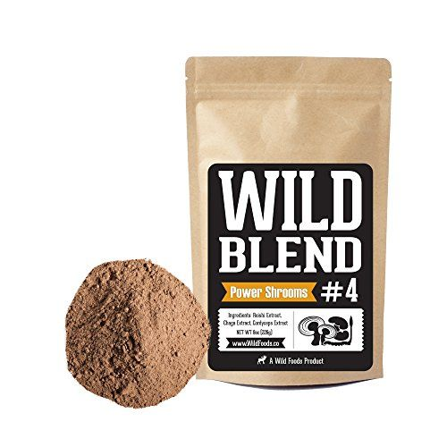 22+ Wild Foods Blends, Superfood Powder Blends for Smoothies, Shakes, Coffee, Baking   Health, Performance, Nootropic Mental Performance Power Shrooms   4oz