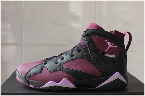 5e0de39db79fe5 Jordan VII(7) Black Purple pink Women-041