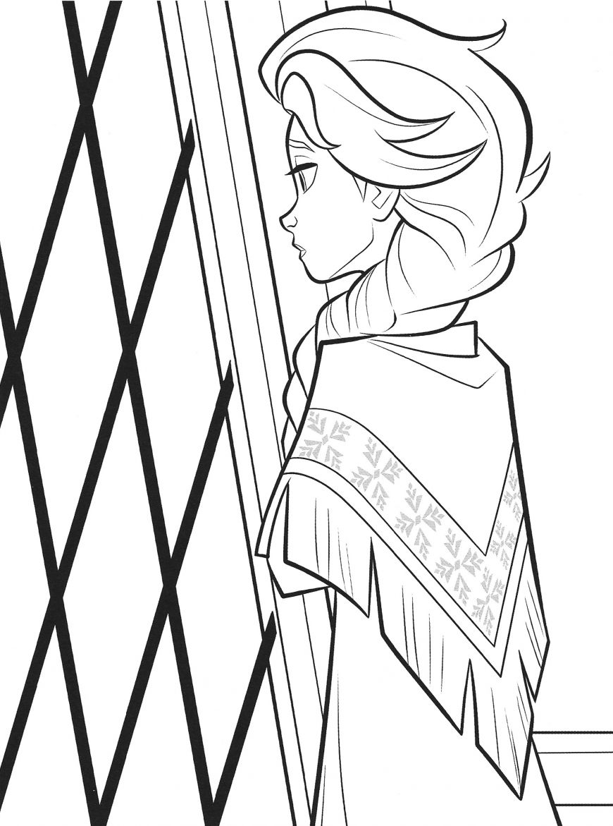 New Frozen 2 coloring pages with Elsa in 2020 Cartoon
