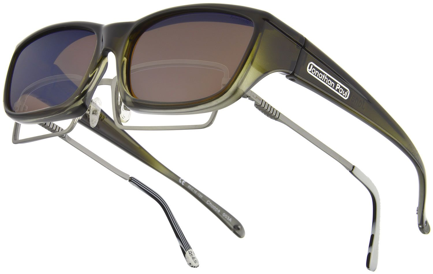 Choopa Olive Charcoal Fitovers by Jonathan Paul - high quality TR90 hand-painted frames and durable polycarbonate lenses.