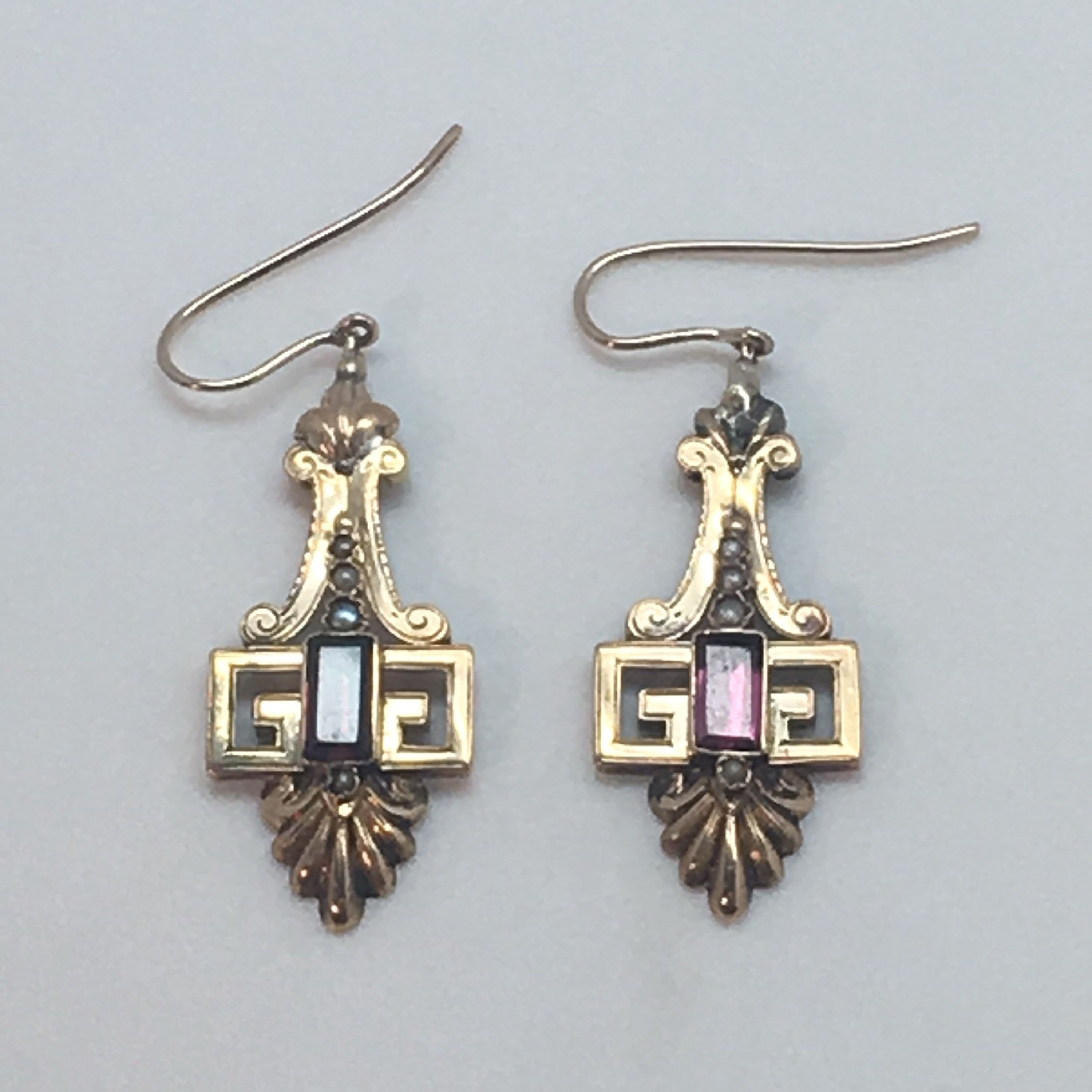 4312b464275 Excited to share this item from my  etsy shop  Victorian Garnet 14k Earrings