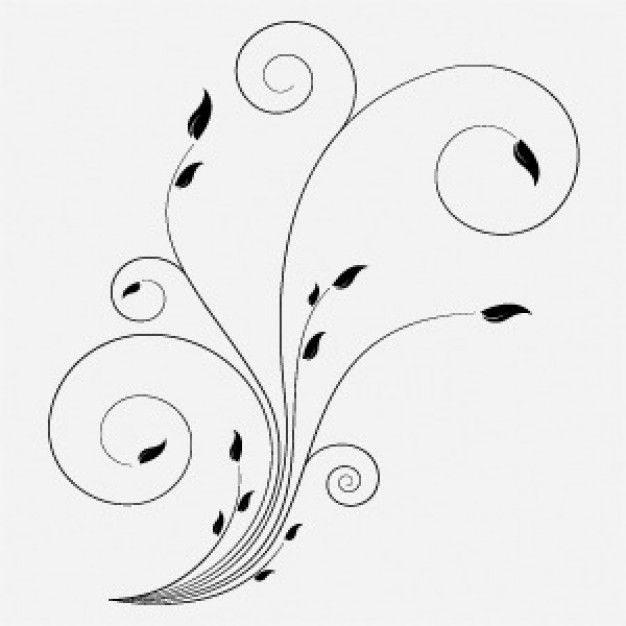 Free Floral Vector With Swirls | Download free Vector ...