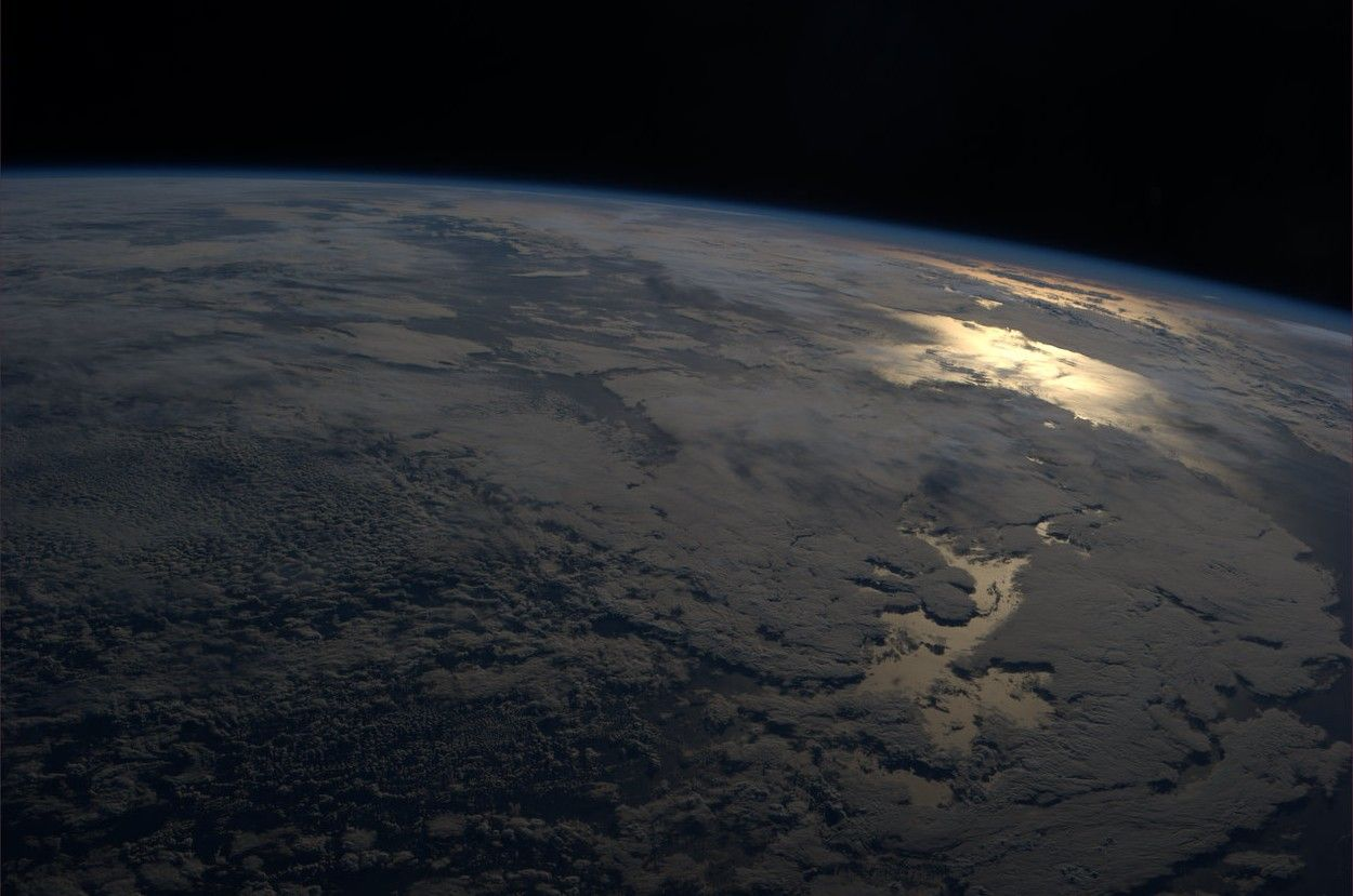 Our Big Blue Marble With Merely A Hint Of An Atmosphere