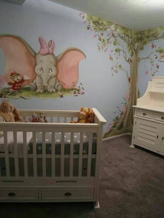 Dumbo mural. ilovefashionmode2 Disney baby rooms, Dumbo