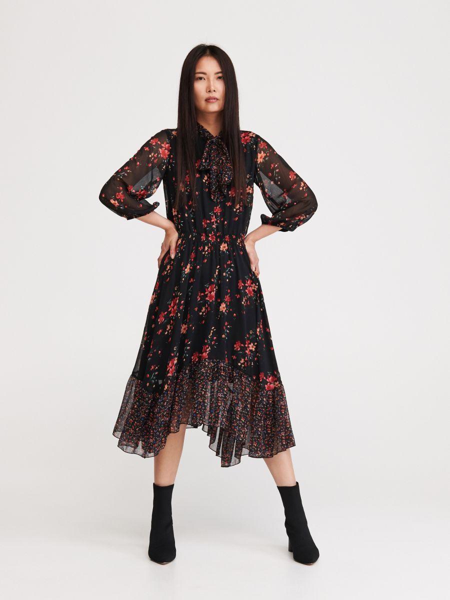 Sukienka W Kwiaty Reserved Xj678 Mlc Long Sleeve Dress Dresses Floral Dress