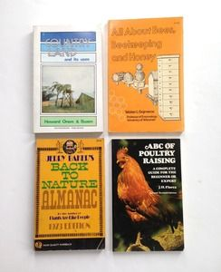 Lot of 1970's Homesteading Books: Country Land, Beekeeping, Chickens...