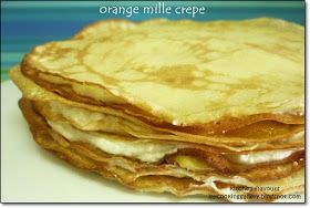 kitchen flavours: Orange Mille Crepe : Free And Easy Bake-Along #14, Theme : Pancakes And Crepes