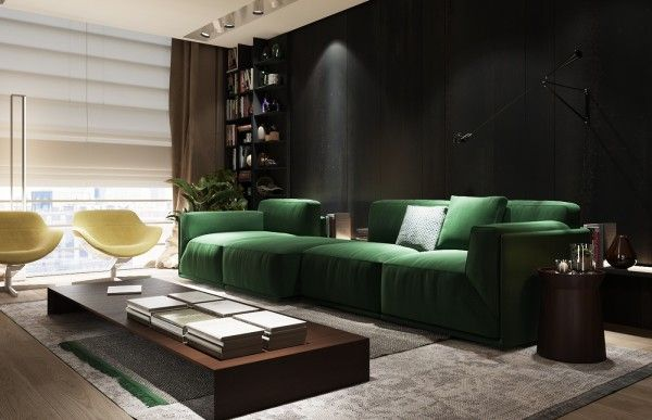 3 Examples Of Modern Simplicity Green Sofa Living Room Green