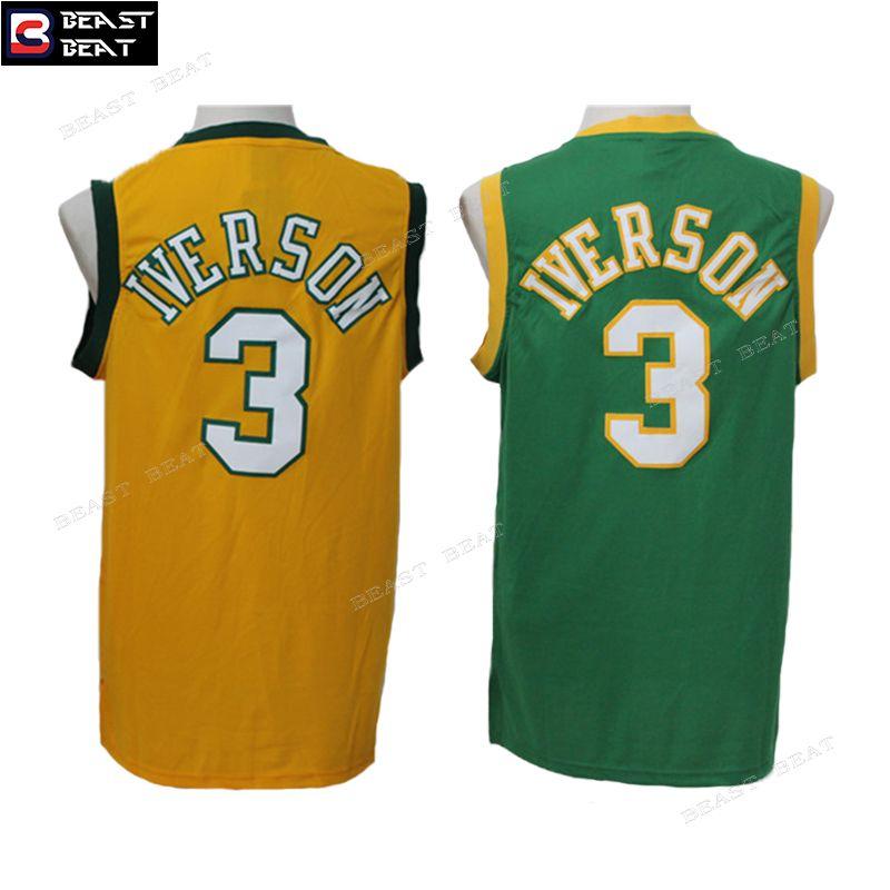 1ca95718231c Allen Iverson  3 Bethel High School Basketball Jerseys Throwback Cheap  Original NBA Jerseys