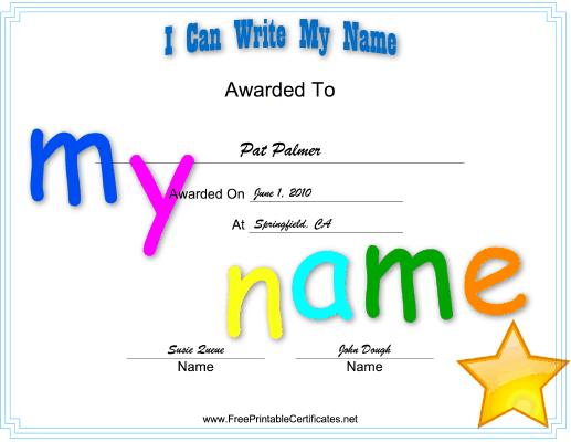 with this printable certificate kids in preschool or kindergarten can celebrate the achievement of learning