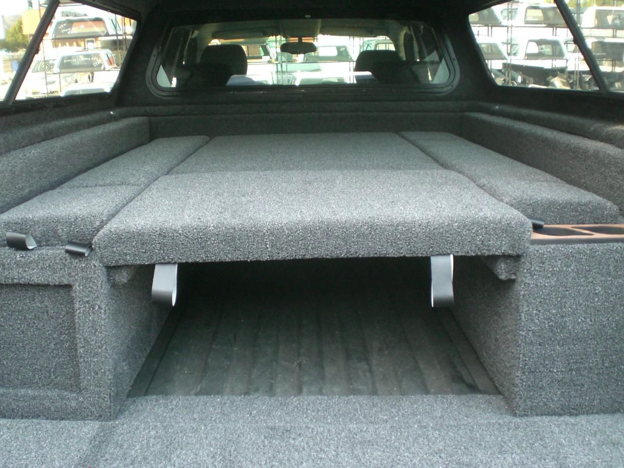 Image result for carpet kit for truck Truck bed camping