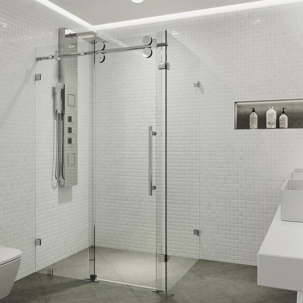The Semi Frameless Contour Shower Door From Dulles Glass Is A