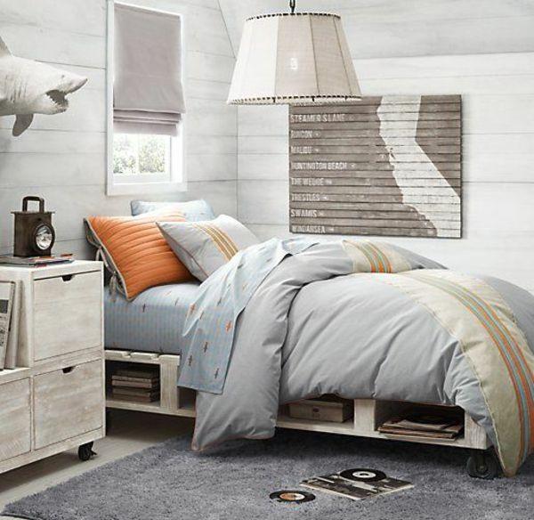 Europaletten Bett selber bauen u2013 30 Ideen für kostengünstige DIY - boxspringbett ratgeber vorteile fragen beantwortet