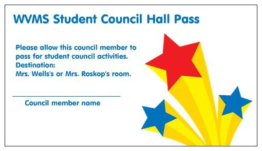 Vistaprint Free Business Cards Hall Passes For Student Council