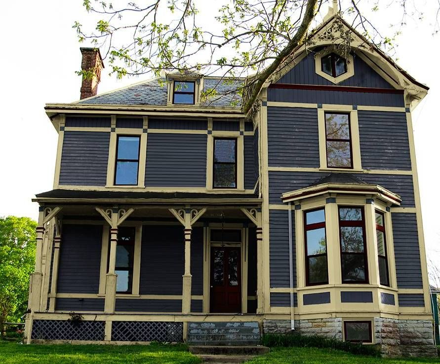 Exterior Remodeling Elegant Victorian House Colors Dark Grey