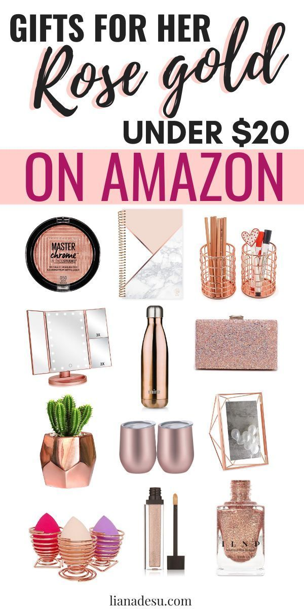 Rose Gold Gifts for HER Under 20 from Amazon Rose