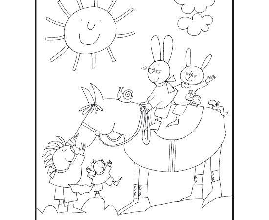 Risultati immagini per giulio coniglio da colorare for Nuvola da colorare