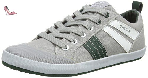 Geox Jr Kiwi I - Sneakers Basses - Garçon - multicolore (Multicolor (Grey / Green) - 28 EU (10 Child UK) - Chaussures geox (*Partner-Link)