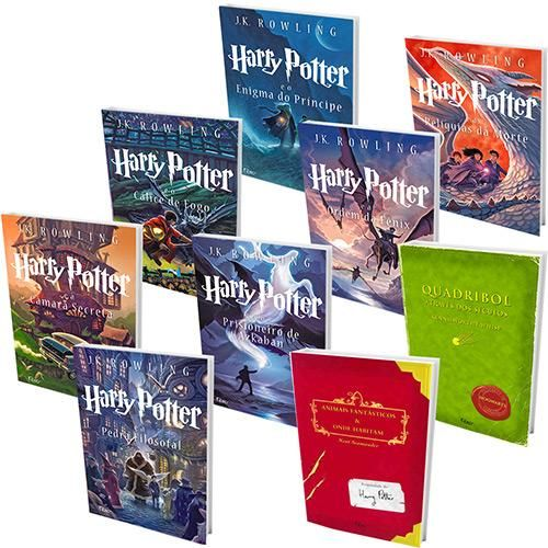 Kit Livros Colecao Harry Potter Saga Completa Versao Scholastic