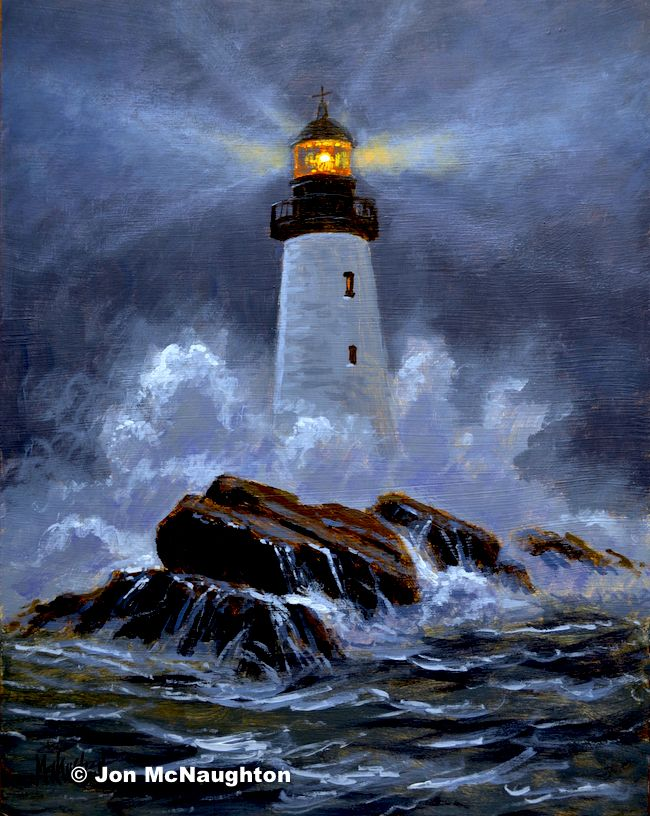 Old Lighthouse Mcnaughton Art Classes With Images Lighthouse