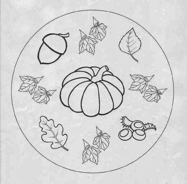 Pumpkin Autumn Beginner Mandala Coloring Pages ...