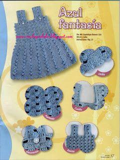 Croche pro Bebe: vestiditos Lindos !!! varios modelos !!!!