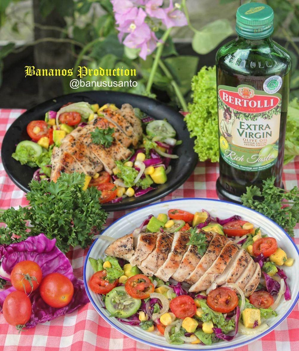 Resep Salad Sayur Instagram Salad Sayur Makanan Salad