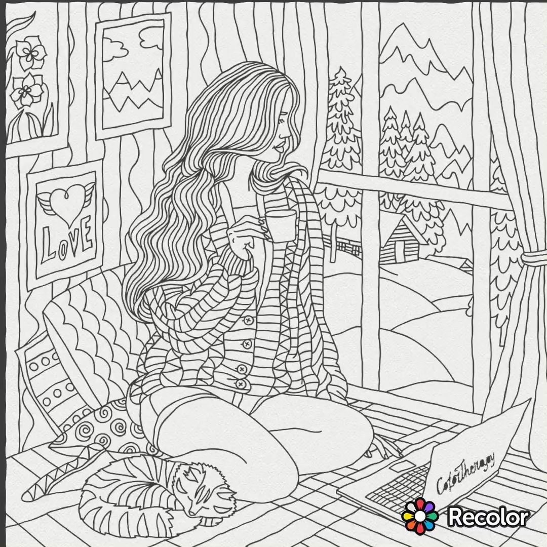 Coloring pages for donna flor - Colouring Pages Coloring Sheets Adult Coloring Coloring Books Art Therapy Puzzle Stained Glass Hobbies Prints