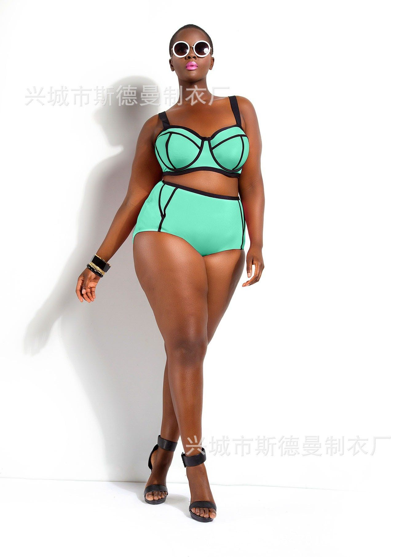 115adafc76 Two Piece Plus Size Bikini Set Summer Hot Swimwear Sexy Push Up Paded  Swimsuit for Fat Women