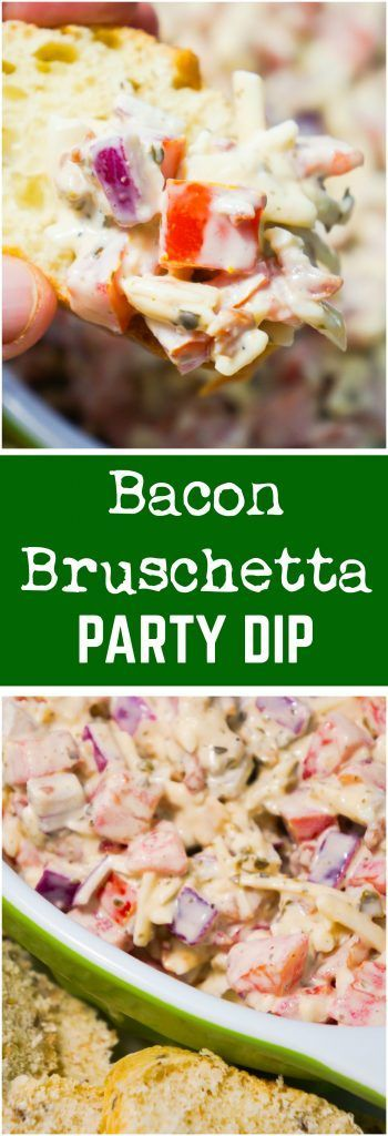 Bacon Bruschetta Party Dip is an easy appetizer recipe loaded with tomatoes, bac... Bacon Bru... Bacon Bruschetta Party Dip is an easy appetizer recipe loaded with tomatoes, bac... Bacon Bruschetta Party Dip is an easy appetizer recipe loaded with tomatoes, bacon, cheese, basil pesto and mayo. This cold dip can be served with sliced baguette or crackers.,