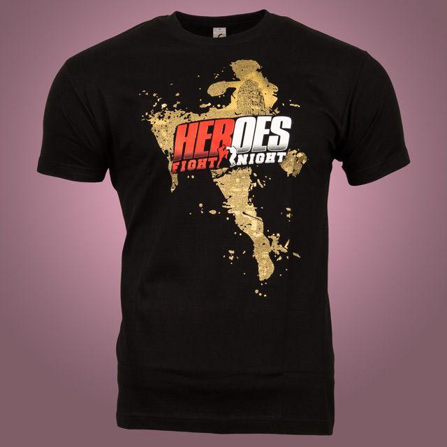 T Shirts Fur Die Heroes Fight Night Im Siebdruck Rastersiebdruck Mit Goldmetallic Nurberlin Tshirtdruck Textildruck Tshirt Shirts T Shirt Druck T Shirt