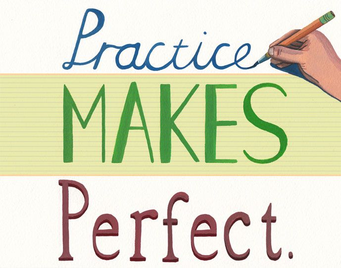 Practice Makes Perfect  Typography  Me Quotes Good Essay Sayings Practice Makes Perfect