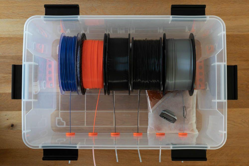 Fertige Box Inklusive Rollen Offen Von Oben Diy Filament Box