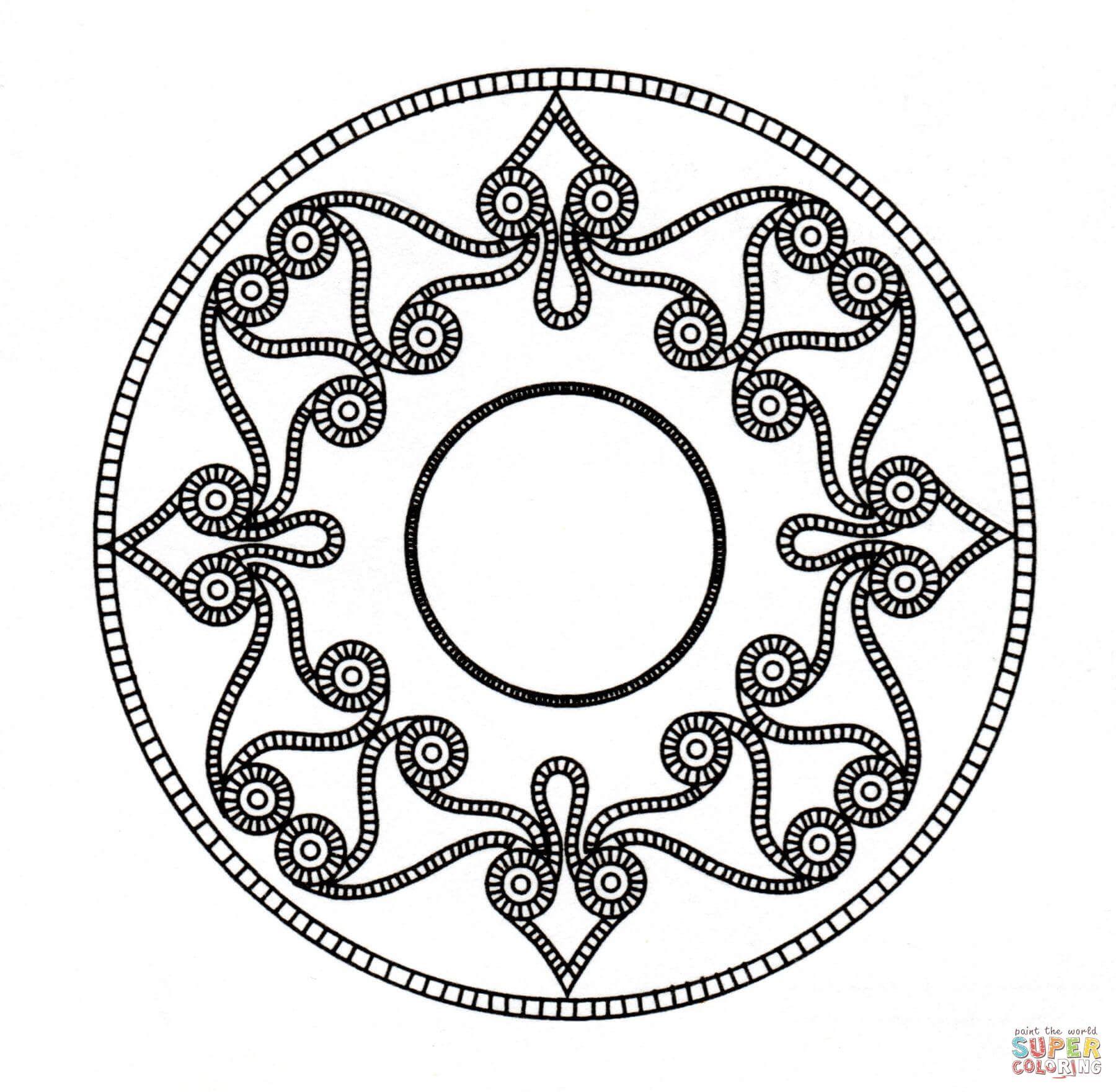 Mandala Celta Dibujo para colorear. Categorías: Arte celta. Páginas ...