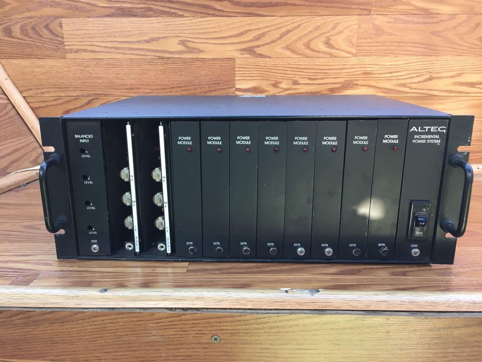 Altec Lansing 2220 Incremental Power System Mainframe Amplifier Amp 2275 Cards