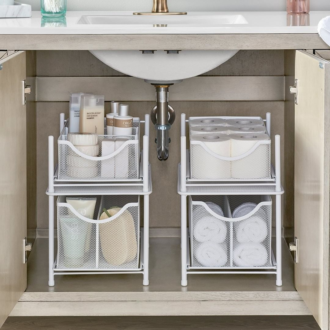 Short On Storage In The Bathroom Don T Fret Our Exclusive Org Drawers Are A Major Lifesaver They Cabinet Drawers Bathroom Storage Bathroom Vanity Storage