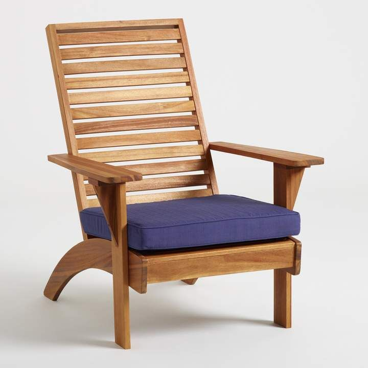 Cost Plus World Market Natural Wood Hyacinth Adirondack Chair With
