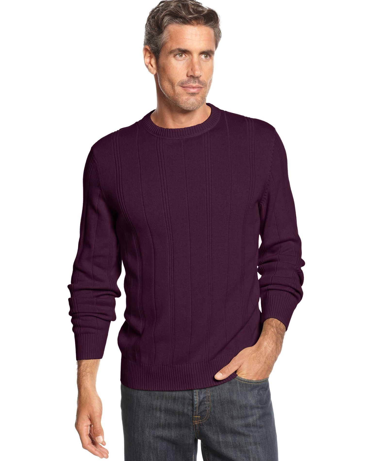 John Ashford Big and Tall Ribbed Crew-Neck Sweater | Products ...