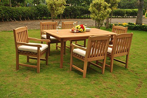 Home Makeover Grade A Teak Wood Dining Set 6 Seater 7 Pc 94 Double