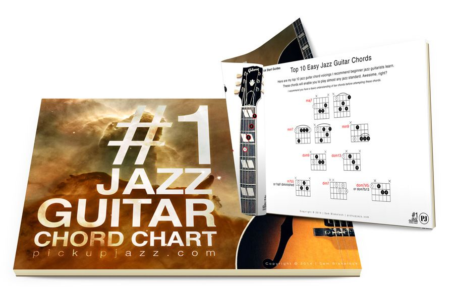 Learn how to play jazz guitar chords free pdf chord charts and progressions lessons improve your chordal vocabulary also rh pinterest