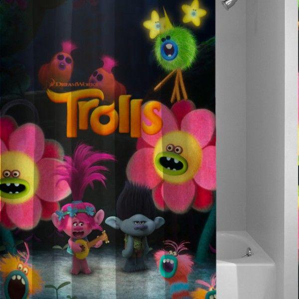Trolls Best Movie Custom Design Shower Curtain
