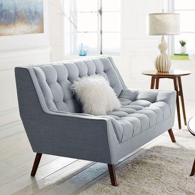637 w cece loveseat sky blue twisp home sofa chair bedroom chair wayfair living. Black Bedroom Furniture Sets. Home Design Ideas