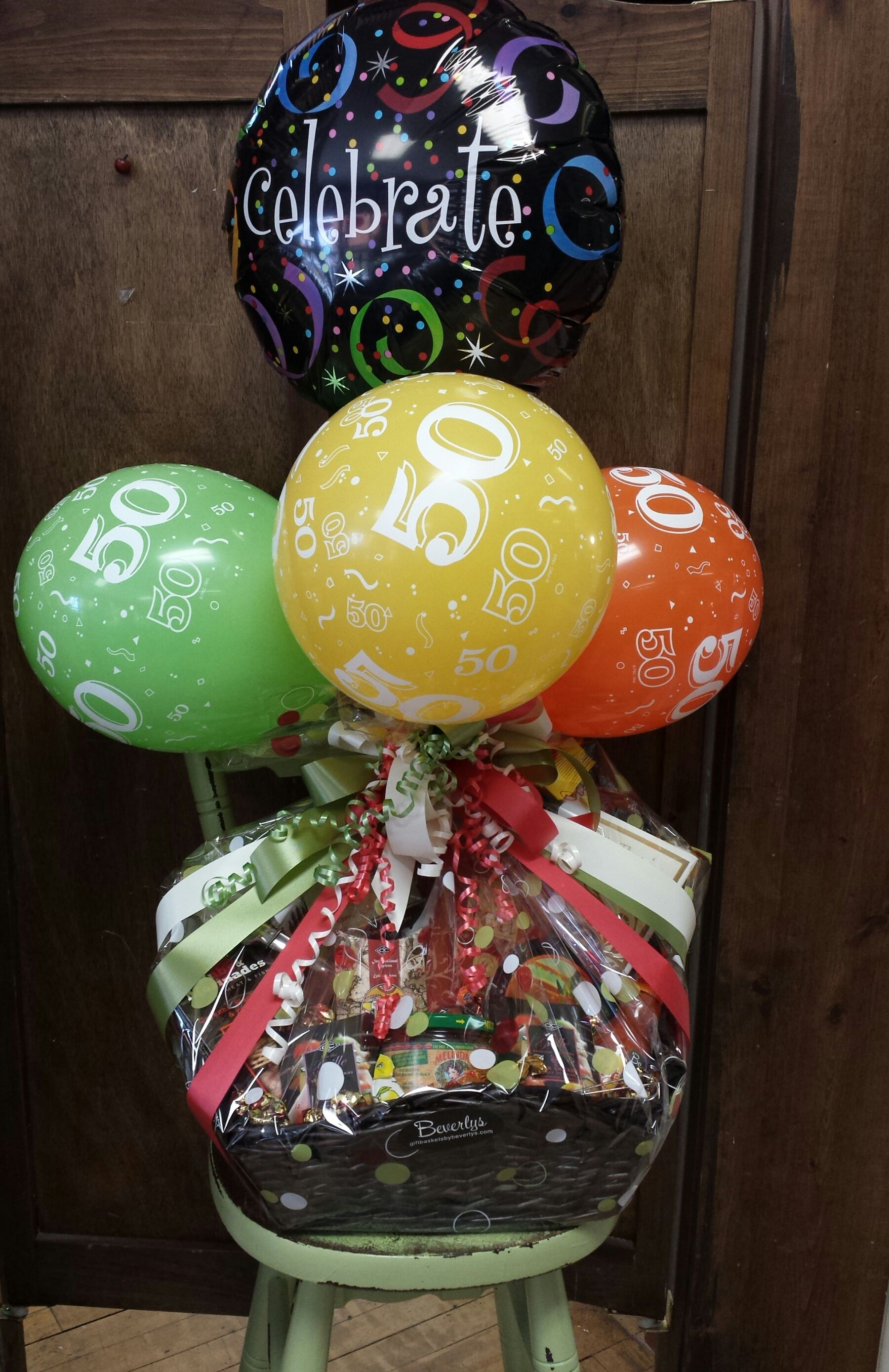 Birthday baskets available in any number birthday