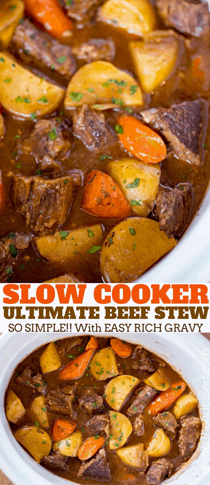 Photo of Ultimate Slow Cooker Beef Stew – Dinner, then Dessert