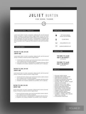Professional Resume Template Cv Template Resume Cover Letter